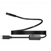 Louiwill 8 Mm 720 P Megapíxeles HD Inalámbrico 2in1 USB TYPE-C Endoscopio Endoscopio, Cámara De Serpiente De Inspección A Prueba De Agua Para Android / MacBook OS Con 8pcs LED Ajustable Brillo, 1 M