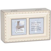 First Communion Girl Petite Ivory Music Box Jesus Loves Me by Cottage Garden