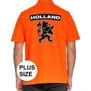 Bellatio Decorations Grote maten Koningsdag poloshirt Holland met leeuw oranje heren