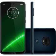 Motorola Moto G7+ Plus- Teléfono celular inteligente, 64 GB, 4 GB de RAM, SIM dual de 6.2 pulgadas, 4G LTE (sólo GSM) desbloqueado de fábrica, modelo internacional XT1965-2, 64 GB, Índigo profundo