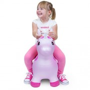 Waddle Favorite Pink Unicorn Toy Hopper Ride On Inflatable Animal Kids Riding Bouncy Horse For Girls Twilight Sparkle Magical Pony for Toddlers and Children