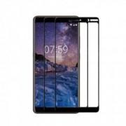 Set 2 folii protectie sticla securizata fullsize pentru Nokia 7 Plus negru