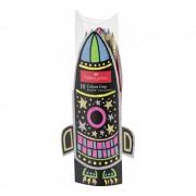 Creioane colorate 10 culori/set FABER-CASTELL Grip Neon si Metalizate, FC201643