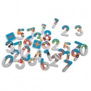 Scratch Europe 60x stuks Stad/city magneet letters van hout - Magneten