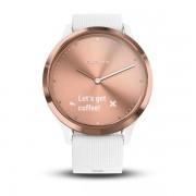 Smartwatch Garmin Vivomove HR Sport White Silicon Band Rose Gold