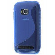 Nokia Lumia 710 Wave Case - Nokia Soft Cover (Frosted Blue/Blue)
