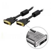 . DVI Single Link monitorkabel, DVI-D 18+1-pin ha-ha, guldpläterade kontakter, ledare av ren koppar, 2m, svart