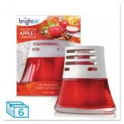 Scented Oil Air Freshener, Macintosh Apple And Cinnamon, Red, 2.5oz, 6/carton
