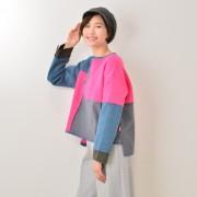 KiKKi 起毛フラノ配色プルオーバー【QVC】40代・50代レディースファッション