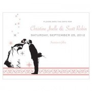 Confetti Vintage Hollywood Save The Date Card