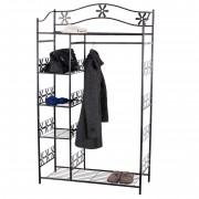 Metall-Garderobe Genf Garderobenständer Kleider-Schrank Metall-Regal 172x100x43 cm ~ Variantenangebot