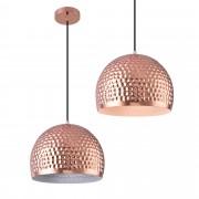 [lux.pro]® Lámpara colgante de diseño cobre- blanca metal