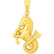 Dare by Voylla Yellow Gold Plated Sea Horse Motif Pendant Without Chain For Men From
