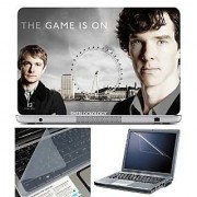 FineArts Laptop Skin The Game is on With Screen Guard and Key Protector - Size 15.6 inch