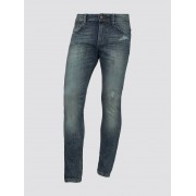 TOM TAILOR DENIM AEDEN straight jeans, Heren, Destroyed Mid Stone Blue Denim, 29/34