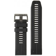 Garmin 010-12500-02 Quickfit 22 Watch Band black Perforated Leather Accessory Band for Fenix 5 Plus/Fenix 5