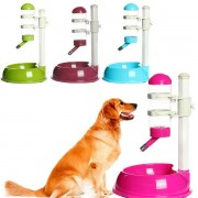 Pet Dish Water Drinker Dispenser Food Feeder