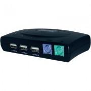 USB HUB PS2 elosztó switch DC-11201 (981091)