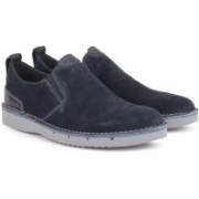 Clarks Capler Step Navy Suede Casual For Men(Navy)