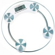 ADONYX Round Thick Tempered Glass Electronic Digital Personal Bathroom Health Body Weight Weighing Scale (White) Weighing Scale (Transparent) Weighing Scale(TRANSPARENT)