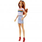 Papusa Barbie in fusta si tricou Barbie Fashionistas