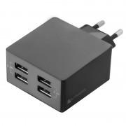 4smarts PowerPlug Universal Quad USB Travel Charger - 4.8A - Black