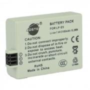 Bateria de litio DSTE LP-E5 7.4V 2100 mah para canon EOS rebel xsi / t1i / XS - gris claro