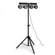 Ibiza DJLIGHT80LED Trípode de luz con 4x LED 1W RGBW Reflectores PAR