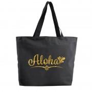 Bellatio Decorations Aloha shopper tas zwart 47 cm