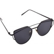 Aligatorr Rectangular Sunglasses(Black)