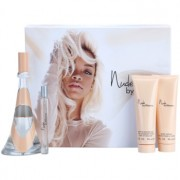 Rihanna Nude lote de regalo III eau de parfum 100 ml + eau de parfum 10 ml + leche corporal 90 ml + gel de ducha 90 ml
