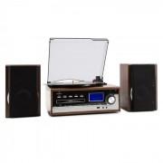 Auna Deerwood sztereó rendszer, lemezjátszó, USB, MP3 kódolás, CD, kazetta, FM, AUX (MG-Deerwood)