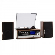 Auna Deerwood, sistem stereo, gramofon, codează USB MP3, CD, casete, FM, AUX (MG-Deerwood)