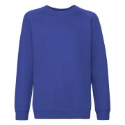 Dziecięca bluza Premium Raglan Sweat Fruit of the Loom Niebieski