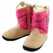 Merkloos Cowboy pantoffels roze voor meisjes