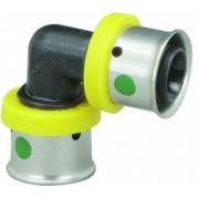 Viega 49210 plástico PureFlow PEX prensa codo con 3/20,32 cm prensa, Pack de 25