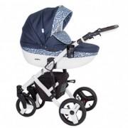 KUNERT Mila kolica za bebe - beli ram, set 3u1