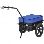 vidaXL Przyczepa rowerowa transportowa/Taczka 70 L, niebieska