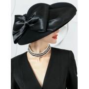 rosegal Vintage Oversize Brim Ribbon Bowknot Straw Hat