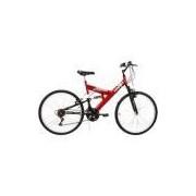 Bicicleta Radikale Full Suspension Aro 26 18V Vermelha/Preta - Verden