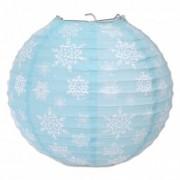 Vegaoo 3 blauwe papieren lantaarns Sneeuwvlokken One Size