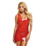 LATEXWEAR Latex Mini Dress - Red