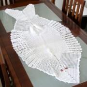 Crochê Centro de Mesa Formato Peixe Branco