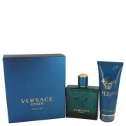 Versace Eros For Men By Versace Gift Set - 3.4 Oz Eau De Toilette Spray + 3.4 Oz Shower Gel --