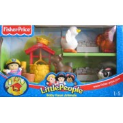 Little People - Baby Farm Animals w Sonya Lee & Animals - 2003 Fisher Price Playset