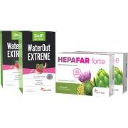 Sensilab Paket: Flacher Bauch: 2 Schritte gegen Bauchfett Abnehmduo zur Entgiftung und Gewichtsabnahme 2x WaterOut & 2x Hepafar Forte Sensilab