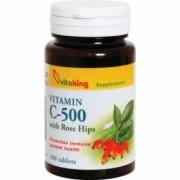 Vitaking 500mg C-vitamint és csipkebogyót tartalmazó tabletta, 100 db