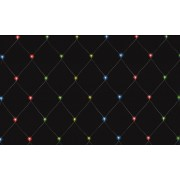 Kültéri fényháló 400 db színes LED izzóval, 6 x 4 m, KLN 400M