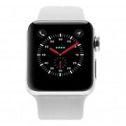 Apple Watch Series 2 Edelstahlgehäuse silber 38mm mit Sportarmband weiss edelstahl silber refurbished