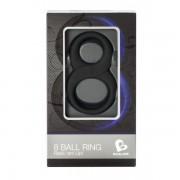 Rocks-Off 8 Ball dupla péniszgyűrű (fekete)